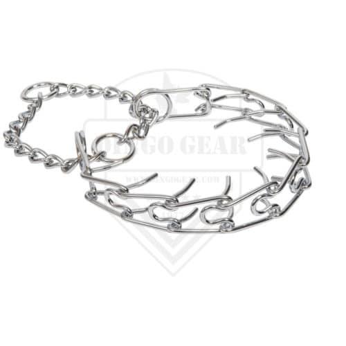 Metalna poluzatezna ogrlica davilica - SPIKED 5