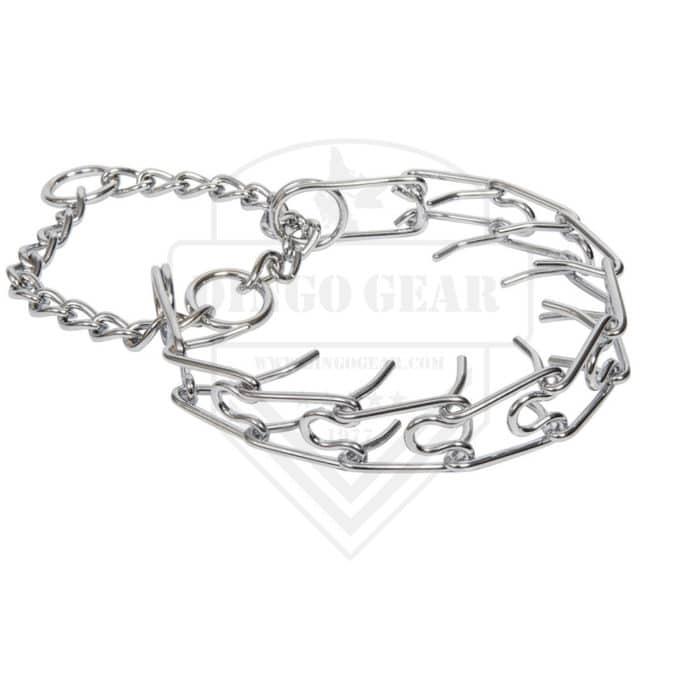 Metalna poluzatezna ogrlica davilica - SPIKED 3