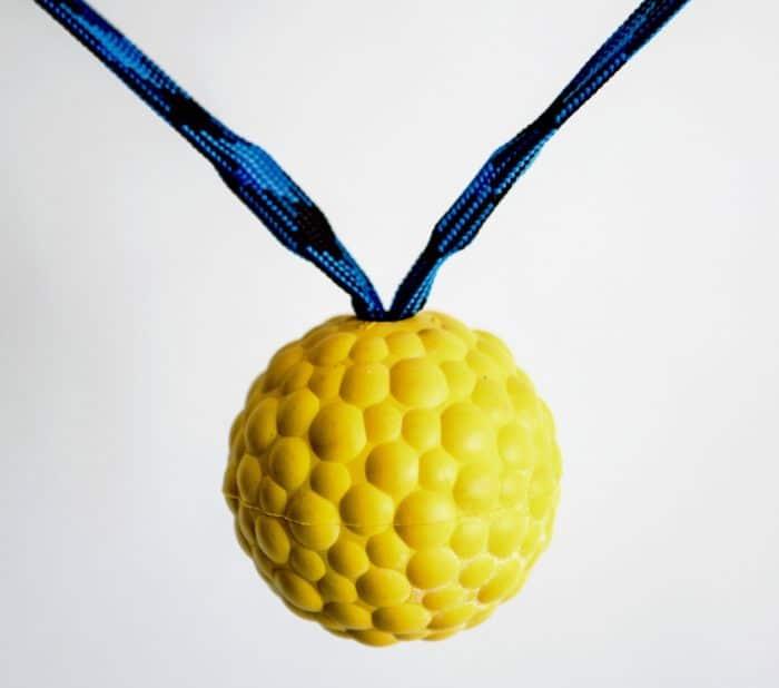Gumijasta žoga z dvojnim magnetom in ročajem MEHKA 6