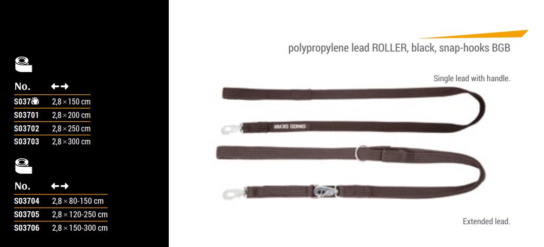 Povodec ROLLER z BGB SNAP karabinom - nastavljiva dolžina 6