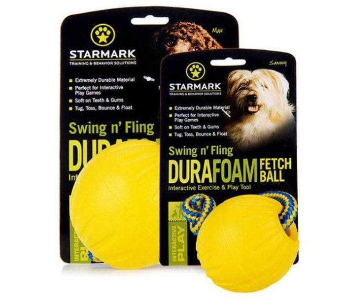 Gumijasta lopta s užetom Starmark Swing 'n Fling Durafoam Fetch 3