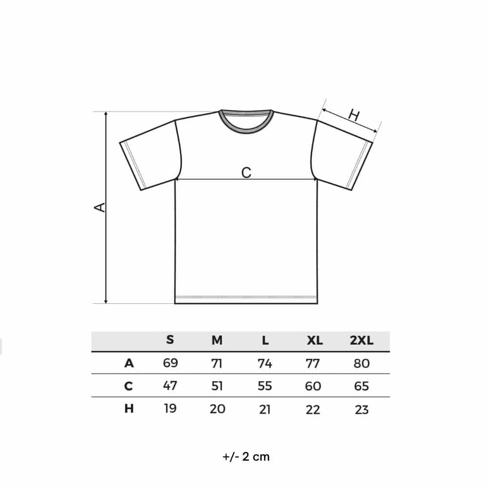 tabela velikosti majice DINGO GEAR