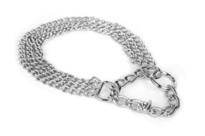 Metalna poluzatezna ogrlica davilica - TROSTRUKA 1