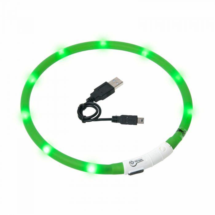 LED ovratnica VISIO za nočne sprehode 1
